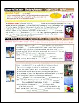 Sunday School Activity Sheet